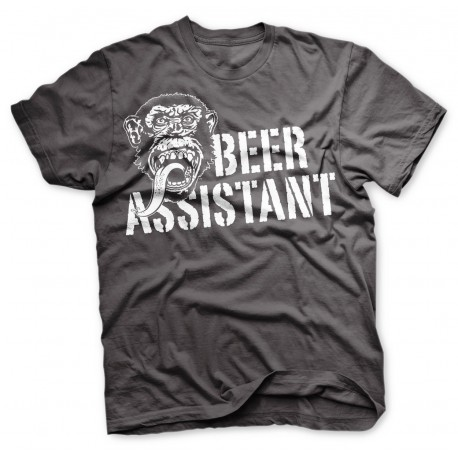 Monkey Beer Assistant Grey - Gas Monkey Garage T-Shirt