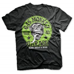 Proud Rebel Green Emblem - Gas Monkey Garage T-shirt