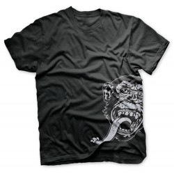 Turbo Charged Monkey Side - Gas Monkey Garage T-shirt