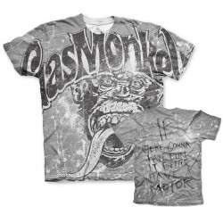 Grunge Worn Out Grey - Gas Monkey Garage T-Shirt